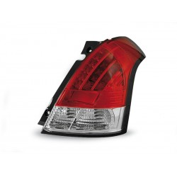 LED TAILIGHTS RED/WHITE SUZUKI SWIFT 05-10