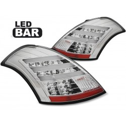 LED TAILIGHTS CHROME SUZUKI SWIFT 10-17