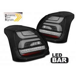 LED TAILIGHTS BLACK SUZUKI SWIFT 17-