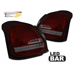 LED TAILIGHTS RED/SMOKE SUZUKI SWIFT 17-