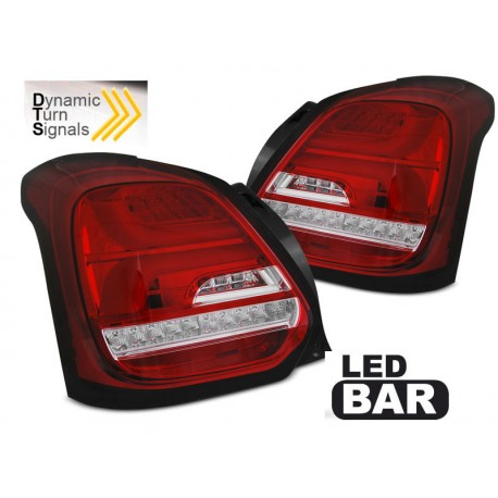 LED TAILIGHTS RED/WHITE SUZUKI SWIFT 17-