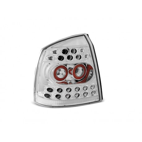 LED TAILIGHTS CHROME OPEL ASTRA G 98-04 HATCHBACK