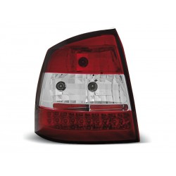 LED TAILIGHTS RED/WHITE OPEL ASTRA G 98-04 HATCHBACK