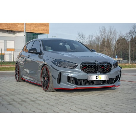 FRONT SPLITTER RED BMW 1 M-PACK / M135I 19-