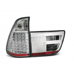 LED TAILIGHTS CHROME BMW X5 99-03