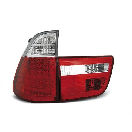 LED TAILIGHTS RED/WHITE BMW X5 99-03
