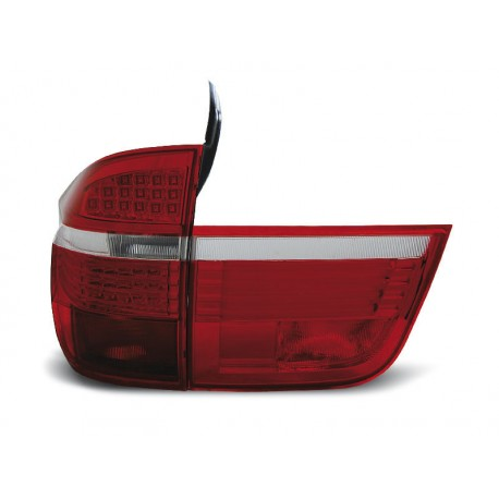 LED TAILIGHTS RED/WHITE BMW X5 06-10